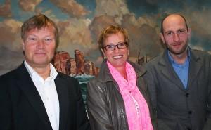 Von links nach rechts: Peter Singer (Geschäftsführer), Sabine Roberts und Jan Berschneider