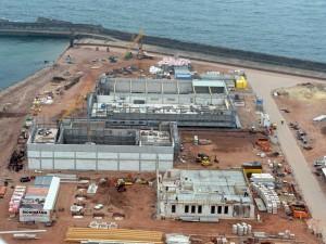 Auf rund 6.000 Quadratmetern entstehen bis zum Frühjahr 2014 Betriebsstationen für zwei Offshore-Windparks
