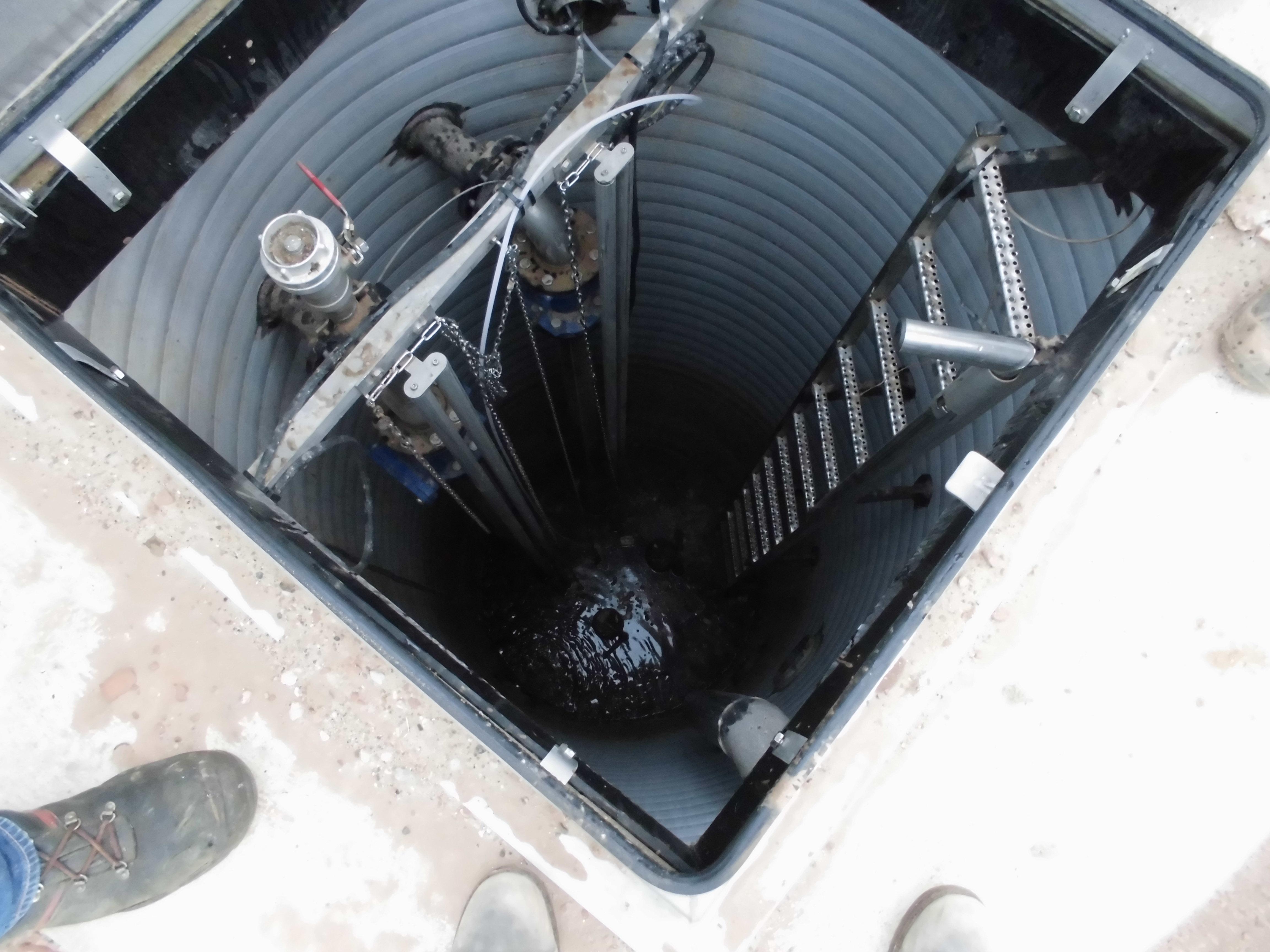 Begutachtung des Abwasserpumpwerkes