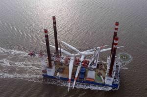 "Rotorsterne an Bord des Installationsschiff ""Victoria Mathias"""