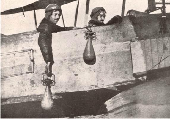 durch die gezeigte Technik wurde diese Art Bomben abgeworfen