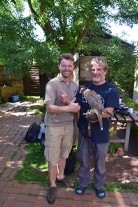 Falkner Benjamin Aschmann & Dr. Jochen Dierschke, Leiter der Vogelwarte Helgoland