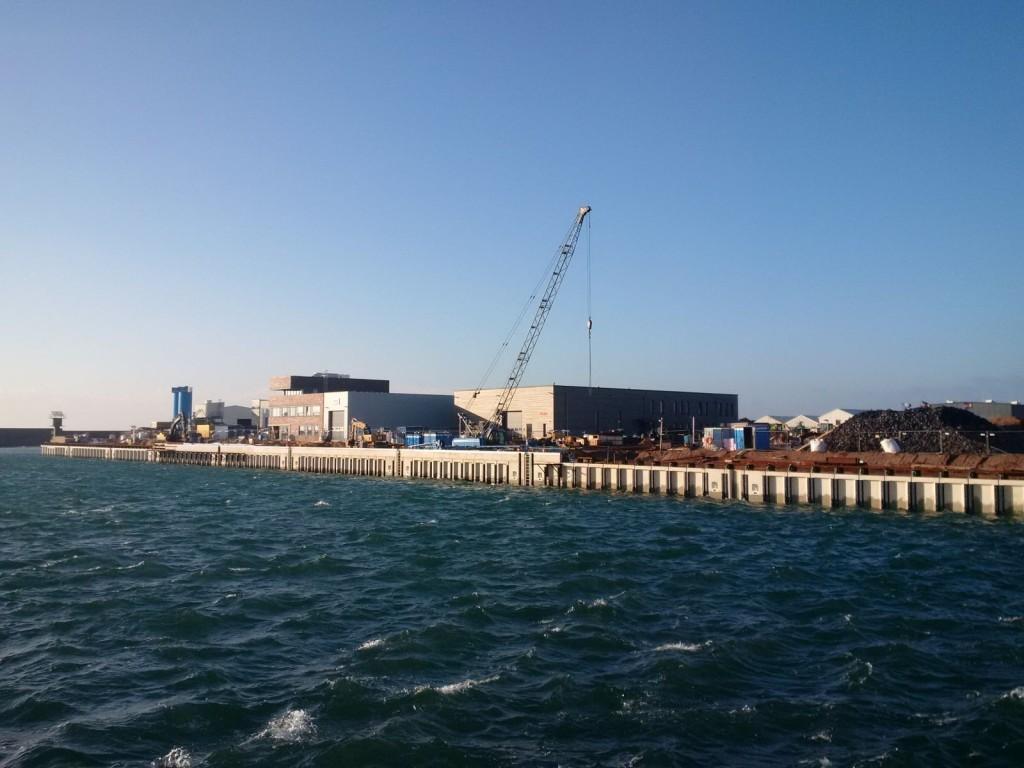 Bau der Südkaje